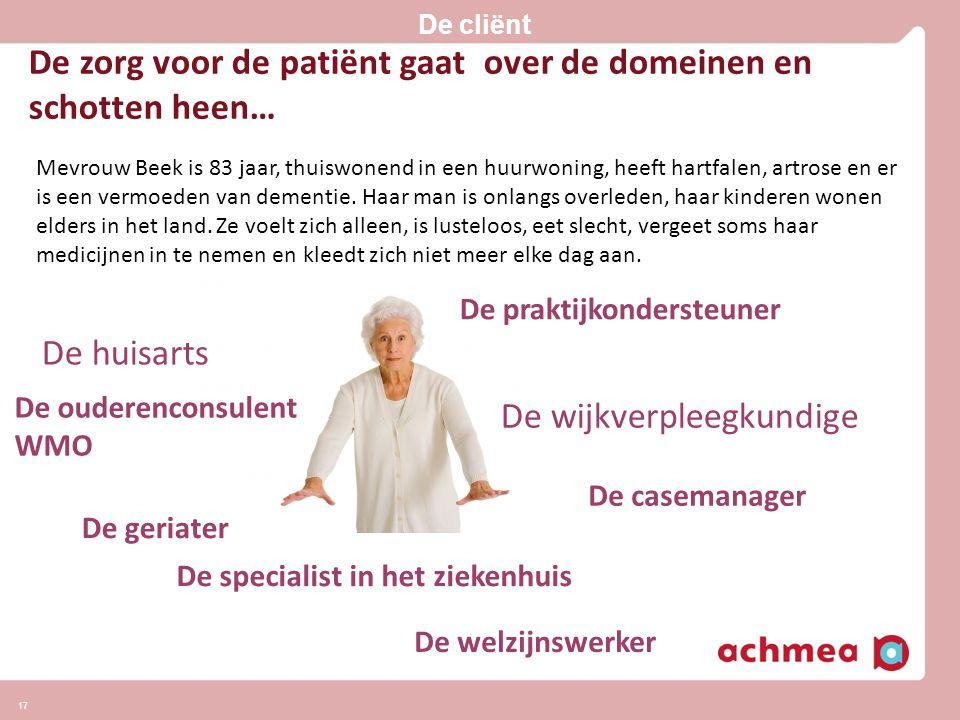 De zorg voor de patiënt gaat over de domeinen en schotten heen…