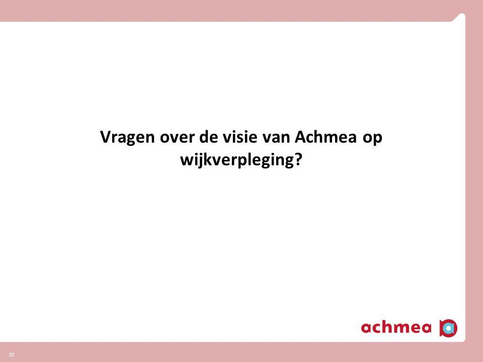 Vragen over de visie van Achmea op wijkverpleging