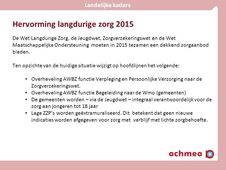 Hervorming langdurige zorg 2015