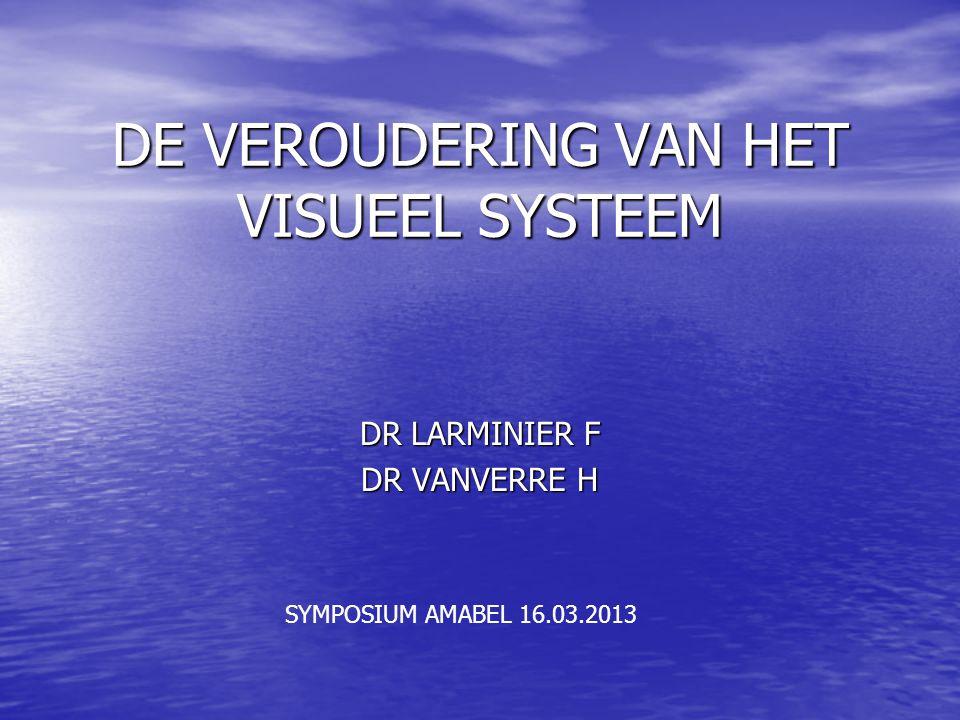 DE VEROUDERING VAN HET VISUEEL SYSTEEM