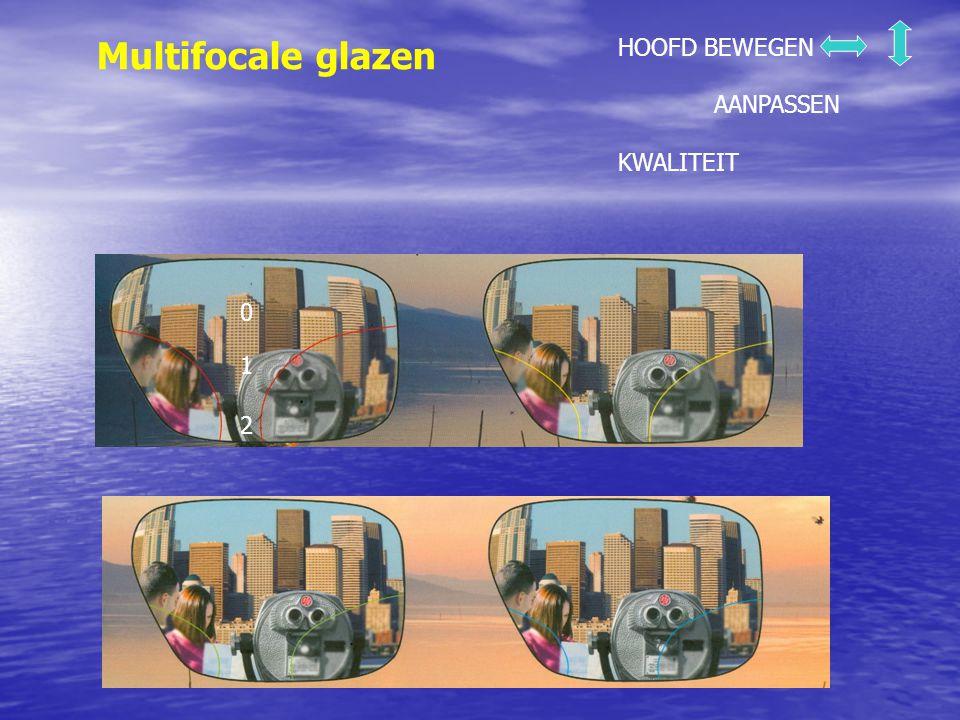 Multifocale glazen HOOFD BEWEGEN AANPASSEN KWALITEIT 1 2