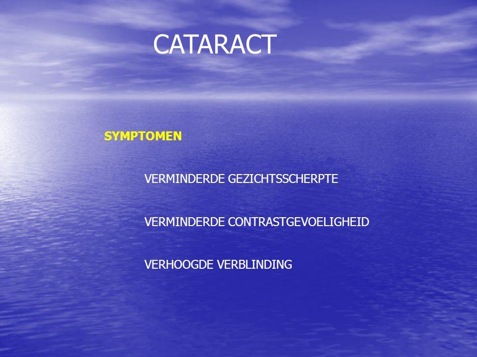 CATARACT SYMPTOMEN VERMINDERDE GEZICHTSSCHERPTE