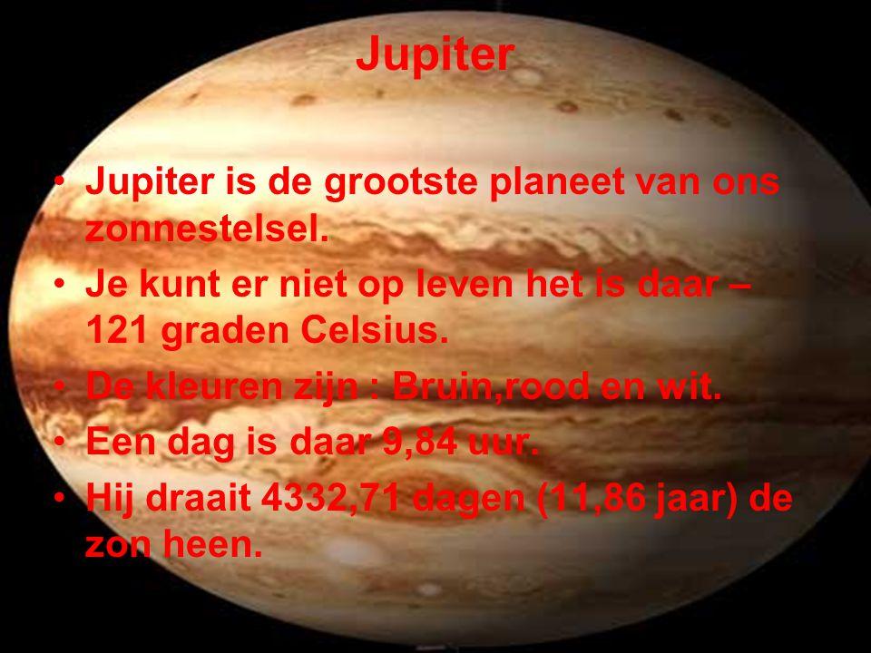 Jupiter Jupiter is de grootste planeet van ons zonnestelsel.