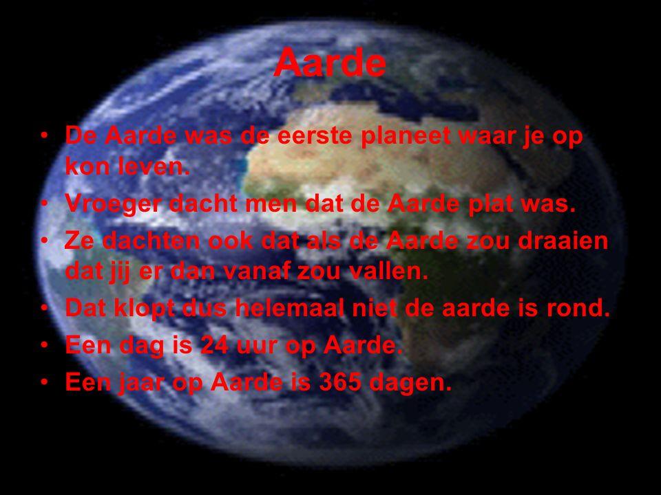 Aarde De Aarde was de eerste planeet waar je op kon leven.