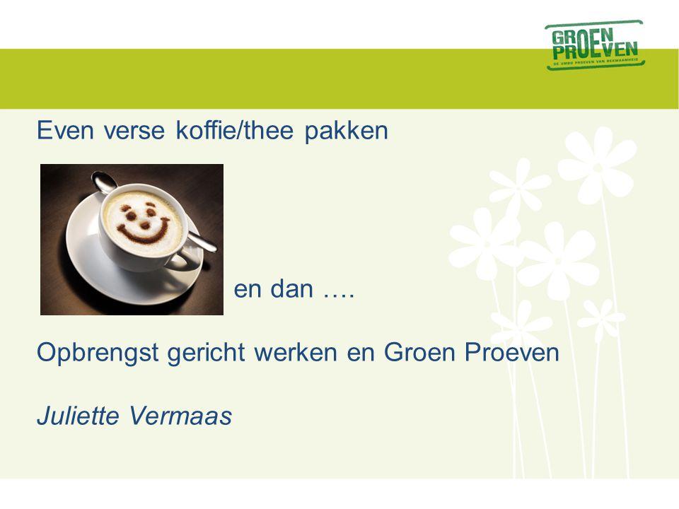 Even verse koffie/thee pakken