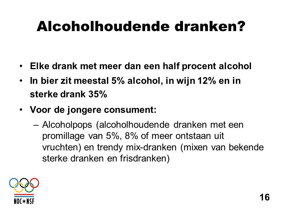 Alcoholhoudende dranken