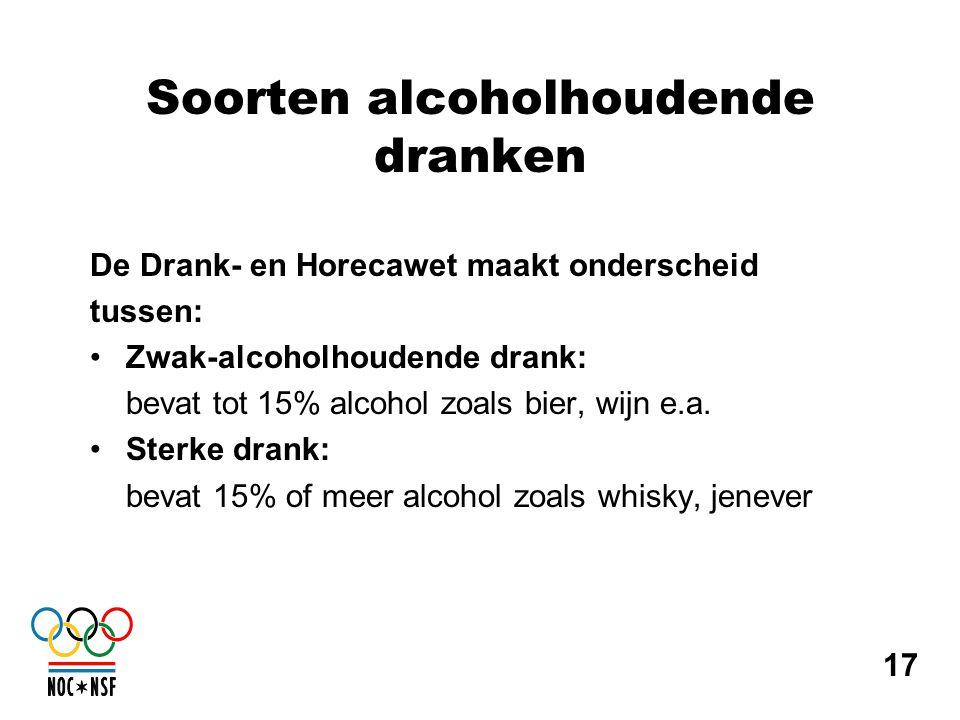 Soorten alcoholhoudende dranken