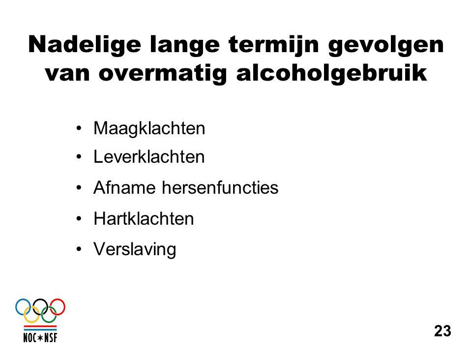 Nadelige lange termijn gevolgen van overmatig alcoholgebruik