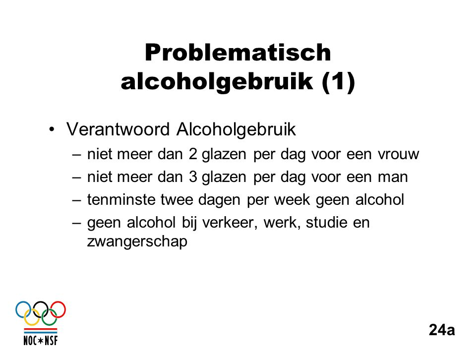 Problematisch alcoholgebruik (1)