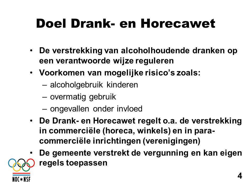 Doel Drank- en Horecawet
