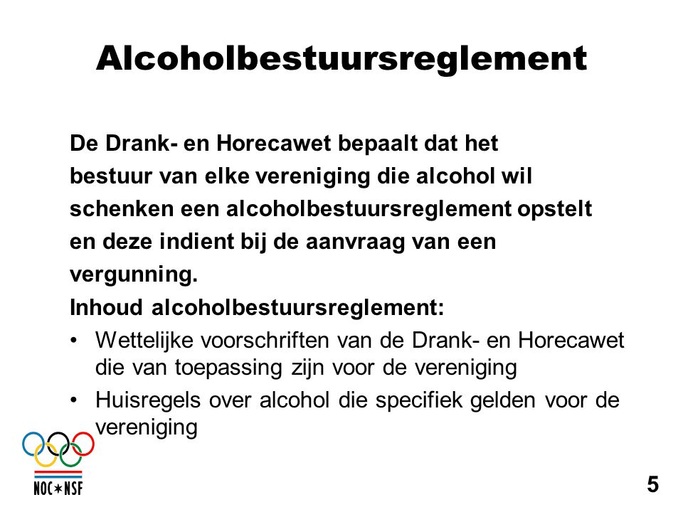 Alcoholbestuursreglement