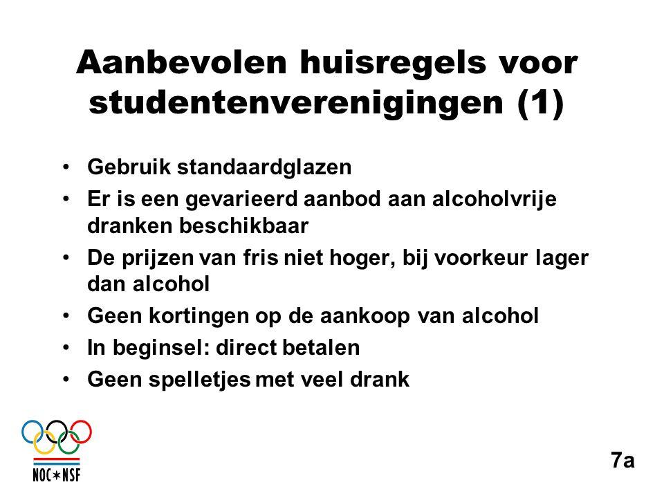 Aanbevolen huisregels voor studentenverenigingen (1)