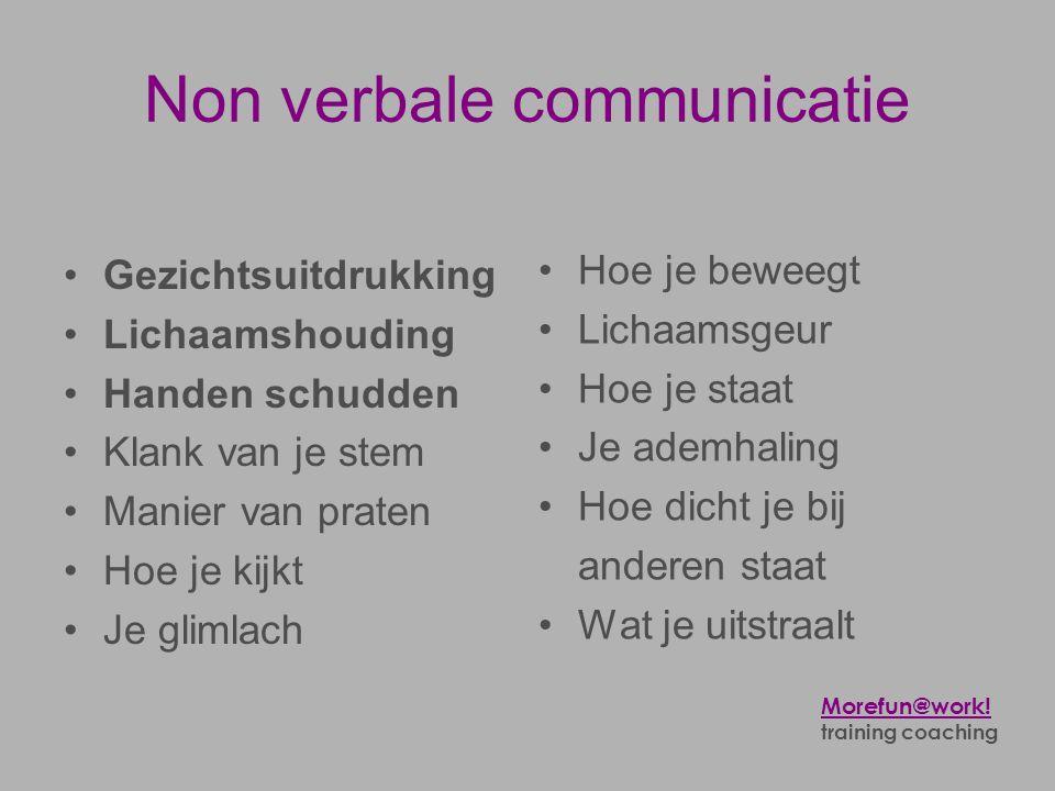 Non verbale communicatie
