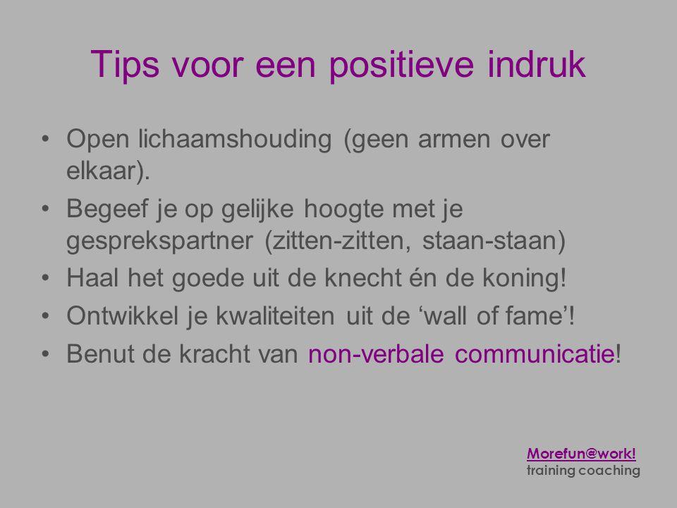 Tips voor een positieve indruk