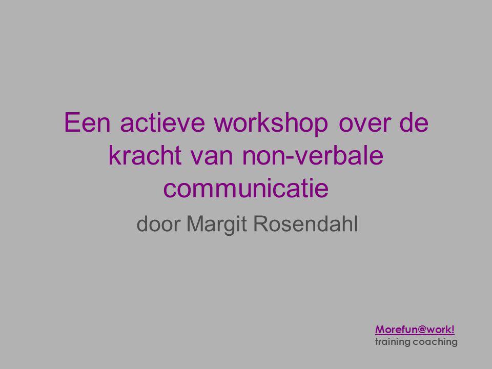 Een actieve workshop over de kracht van non-verbale communicatie