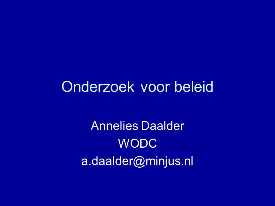 Annelies Daalder WODC a.daalder@minjus.nl