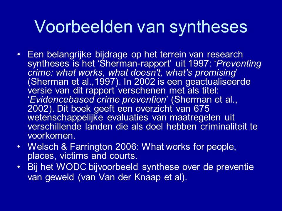 Voorbeelden van syntheses
