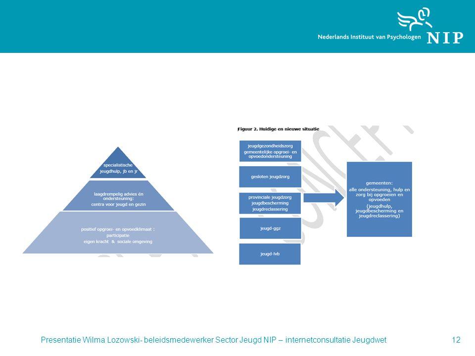 Presentatie Wilma Lozowski- beleidsmedewerker Sector Jeugd NIP – internetconsultatie Jeugdwet