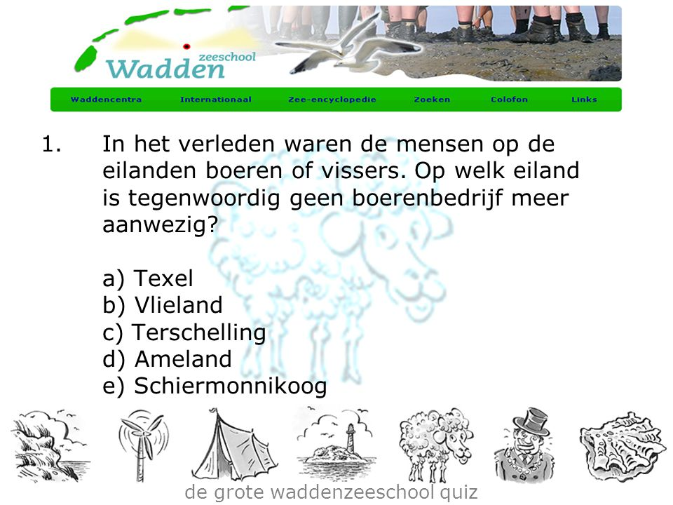 de grote waddenzeeschool quiz
