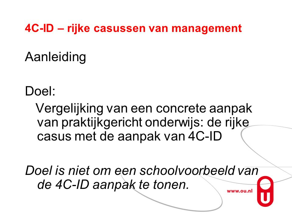 4C-ID – rijke casussen van management