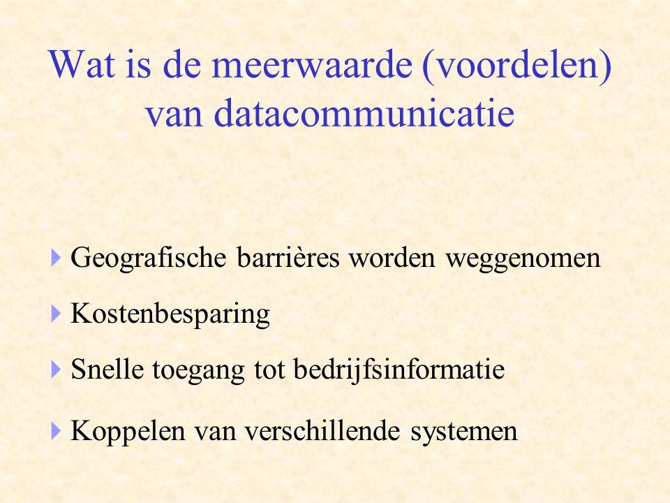 Wat is de meerwaarde (voordelen) van datacommunicatie