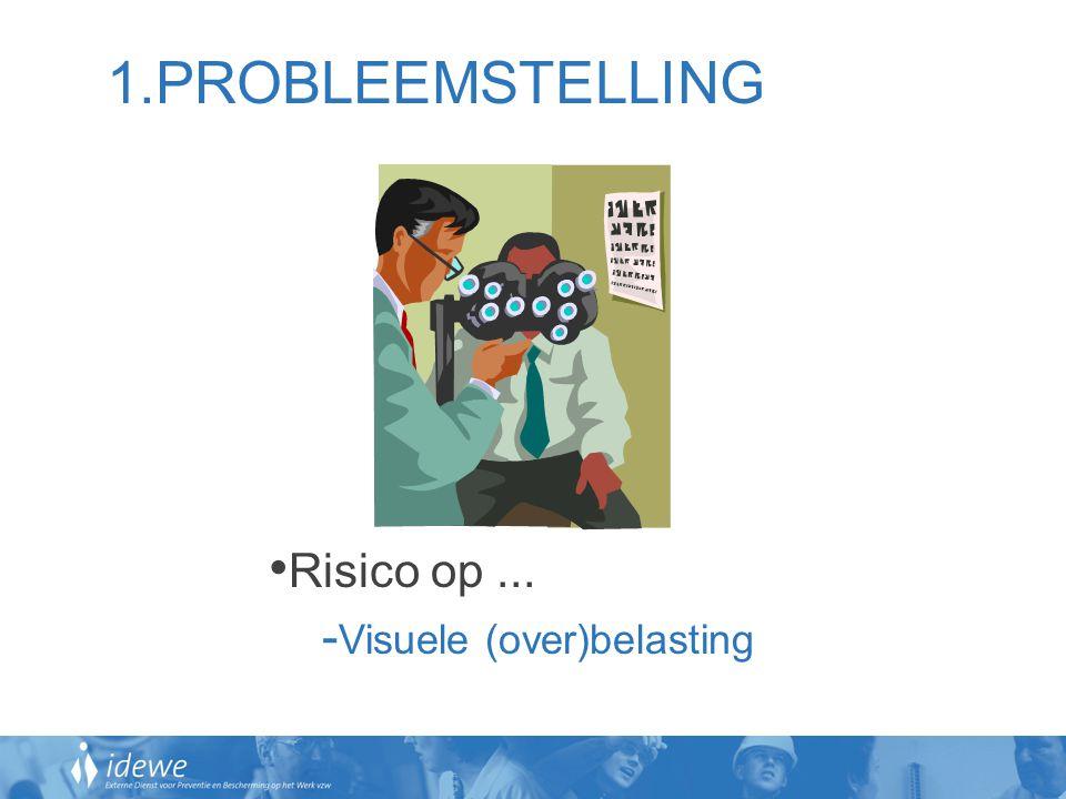 1.PROBLEEMSTELLING Risico op ... Visuele (over)belasting