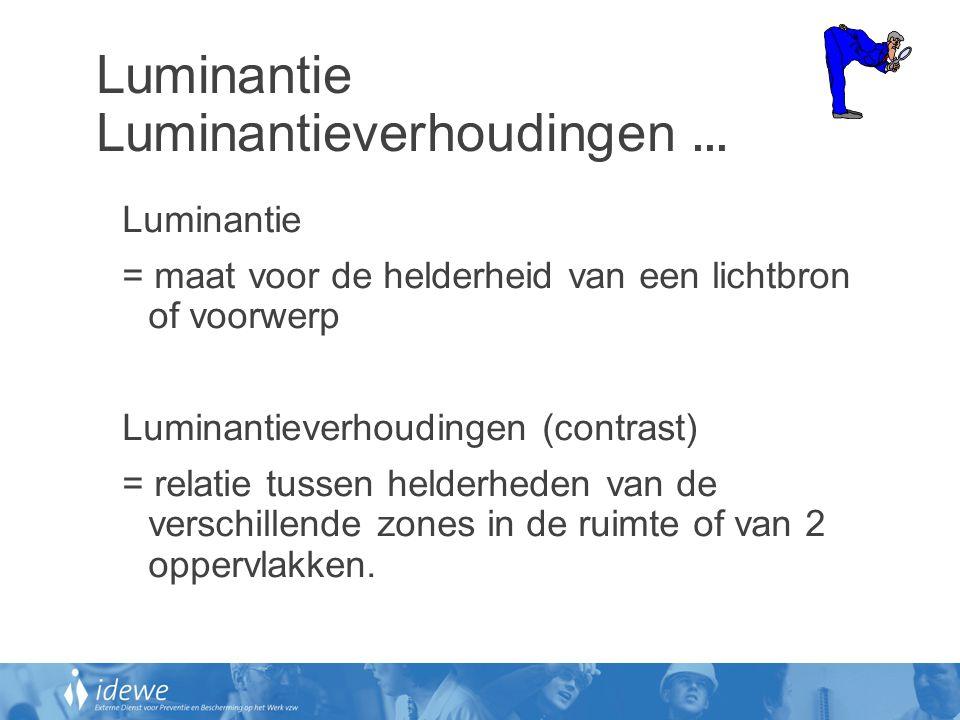 Luminantie Luminantieverhoudingen ...