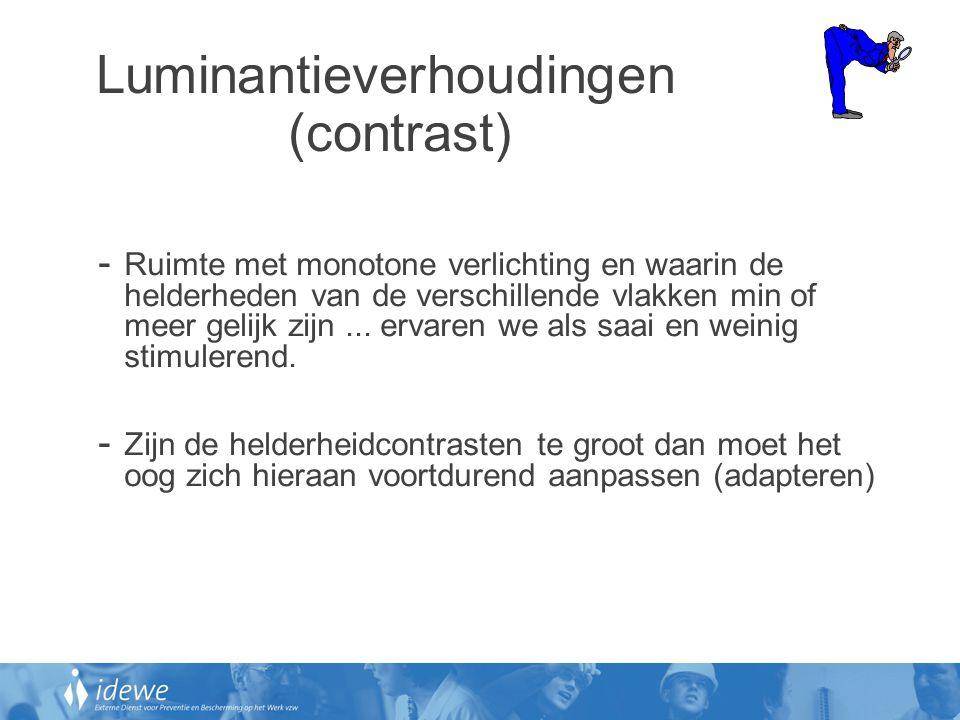 Luminantieverhoudingen (contrast)