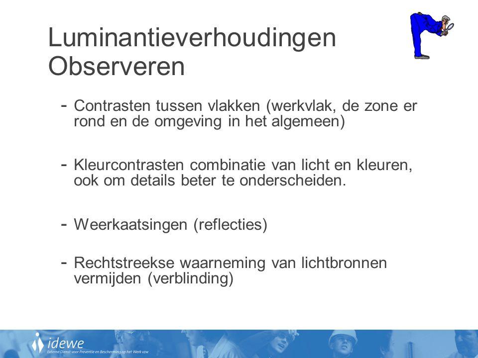 Luminantieverhoudingen Observeren