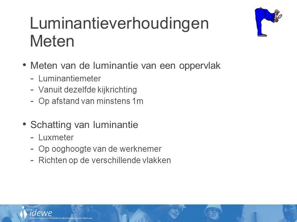 Luminantieverhoudingen Meten