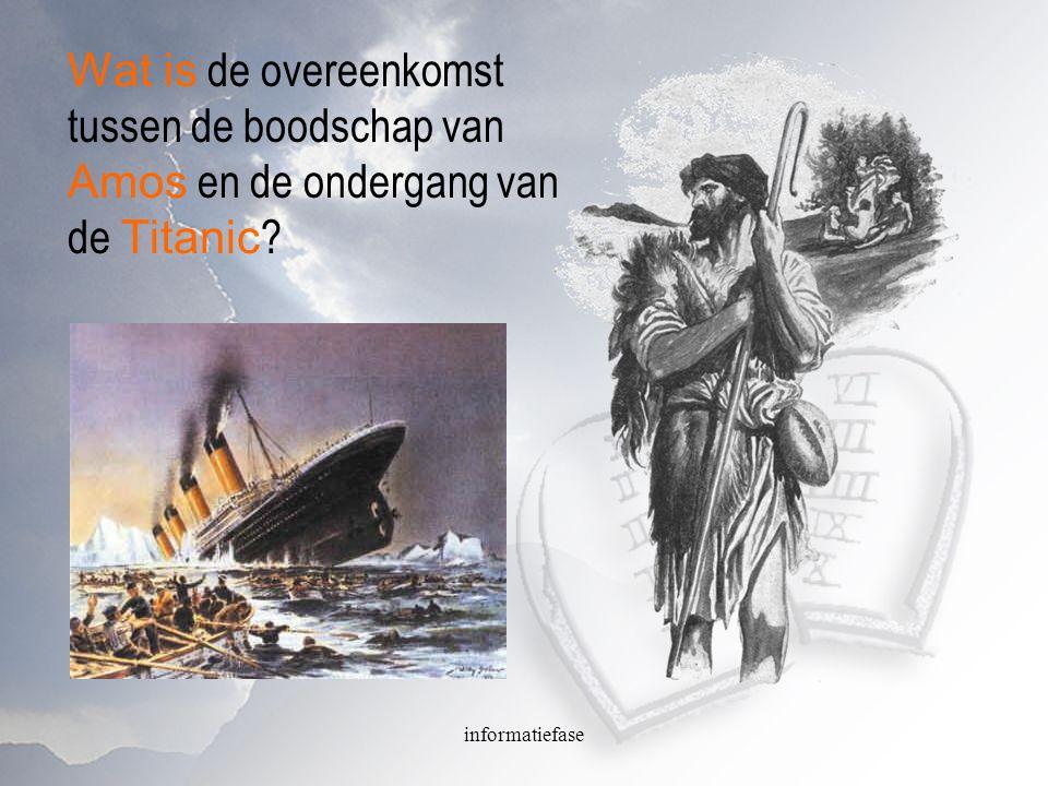 Wat is de overeenkomst tussen de boodschap van Amos en de ondergang van de Titanic