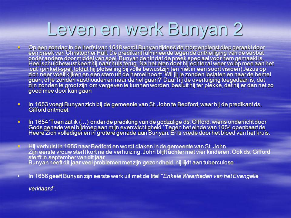 Leven en werk Bunyan 2