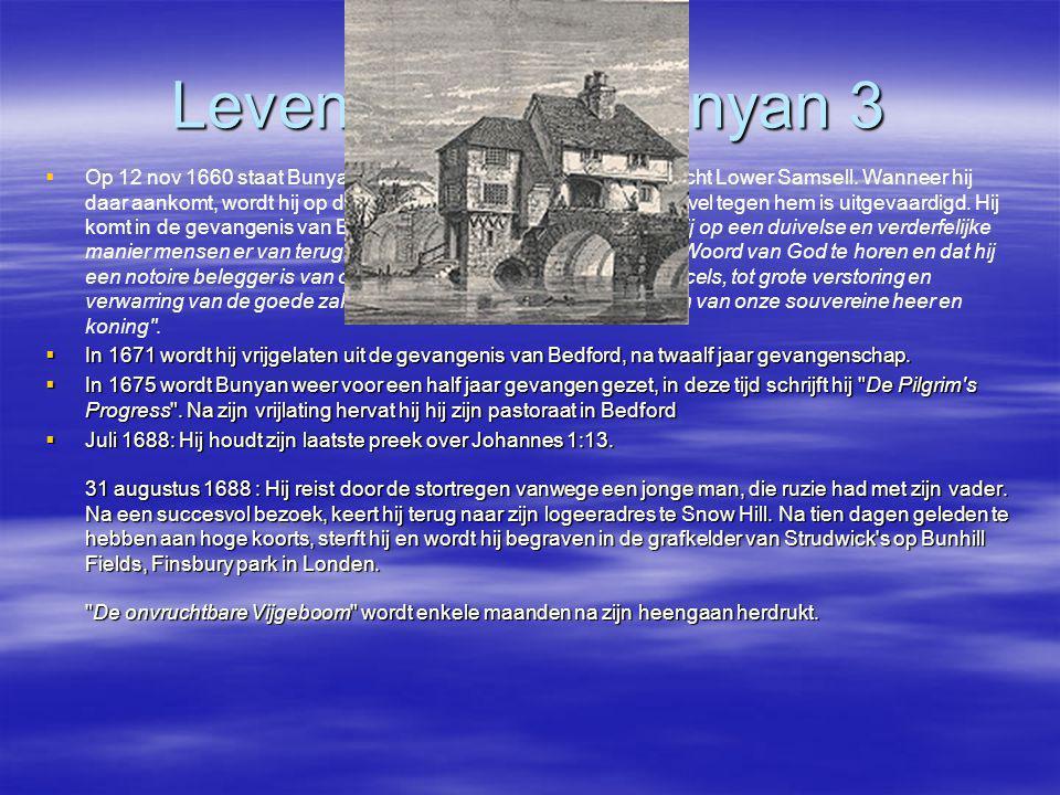 Leven en werk Bunyan 3