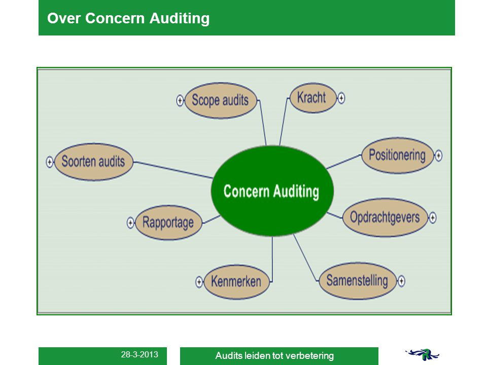 Over Concern Auditing 28-3-2013 Audits leiden tot verbetering