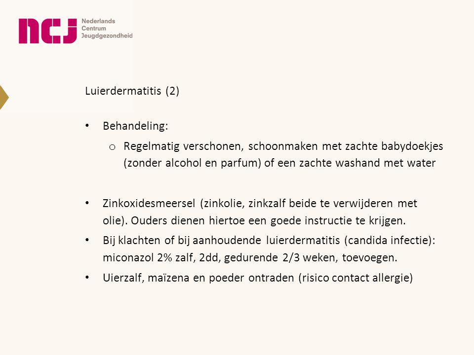 Luierdermatitis (2) Behandeling: