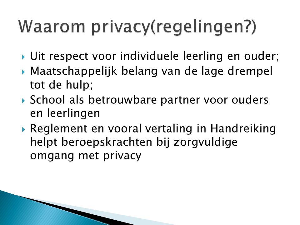 Waarom privacy(regelingen )