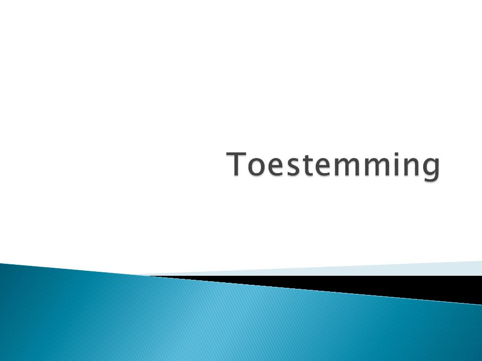 Toestemming