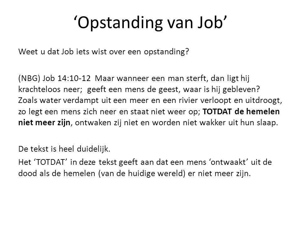 'Opstanding van Job'