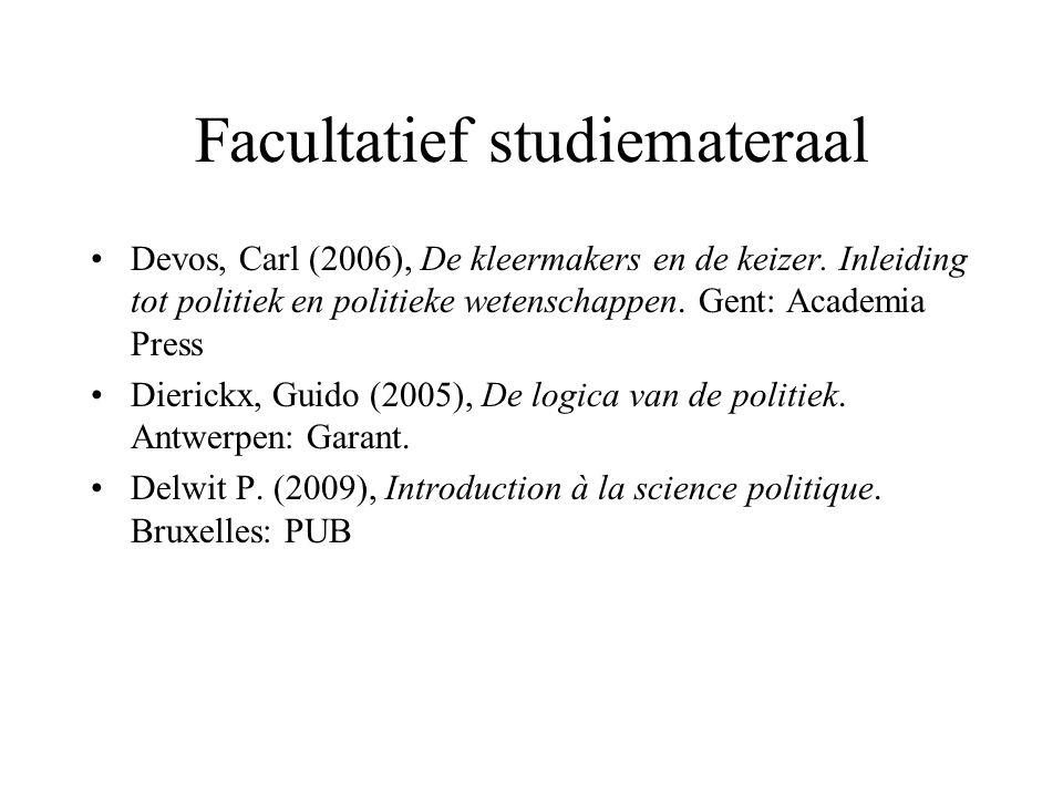 Facultatief studiemateraal