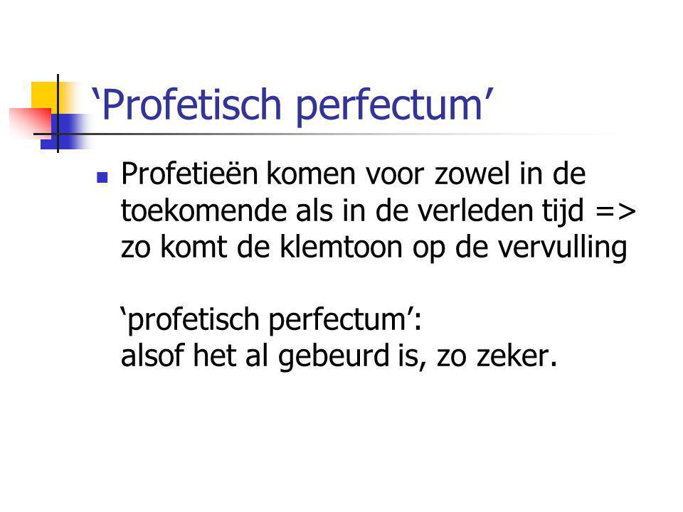 'Profetisch perfectum'