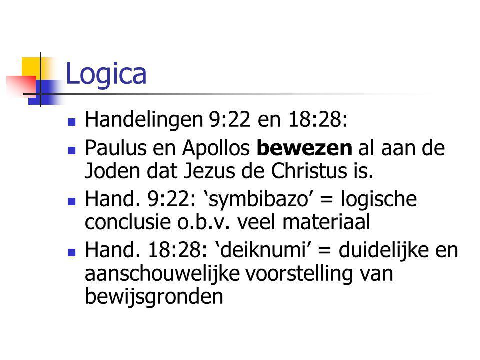Logica Handelingen 9:22 en 18:28: