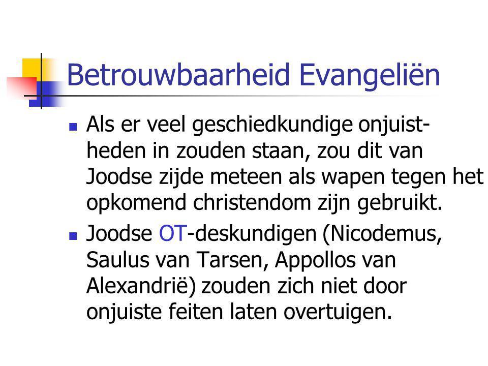 Betrouwbaarheid Evangeliën