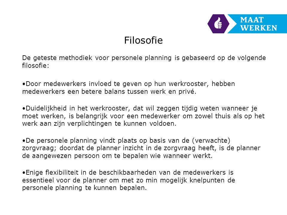 Filosofie De geteste methodiek voor personele planning is gebaseerd op de volgende filosofie: