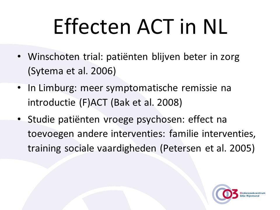 Effecten ACT in NL Winschoten trial: patiënten blijven beter in zorg (Sytema et al. 2006)