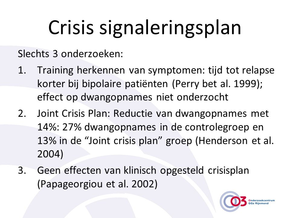 Crisis signaleringsplan
