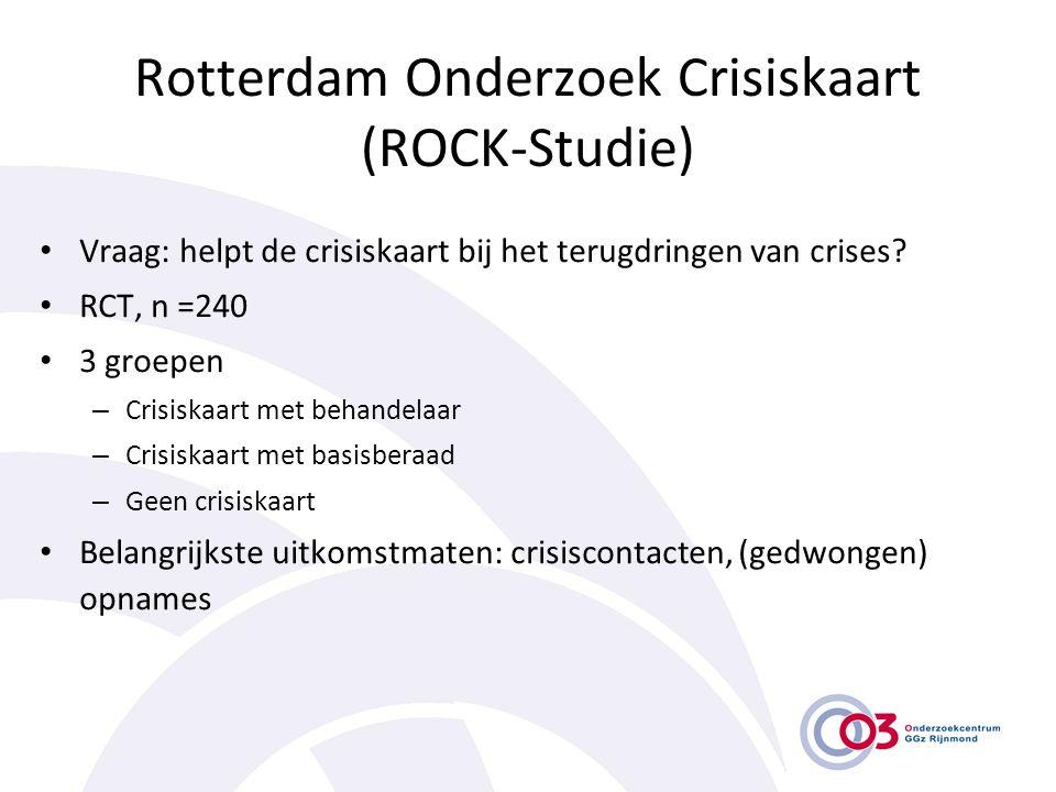 Rotterdam Onderzoek Crisiskaart (ROCK-Studie)