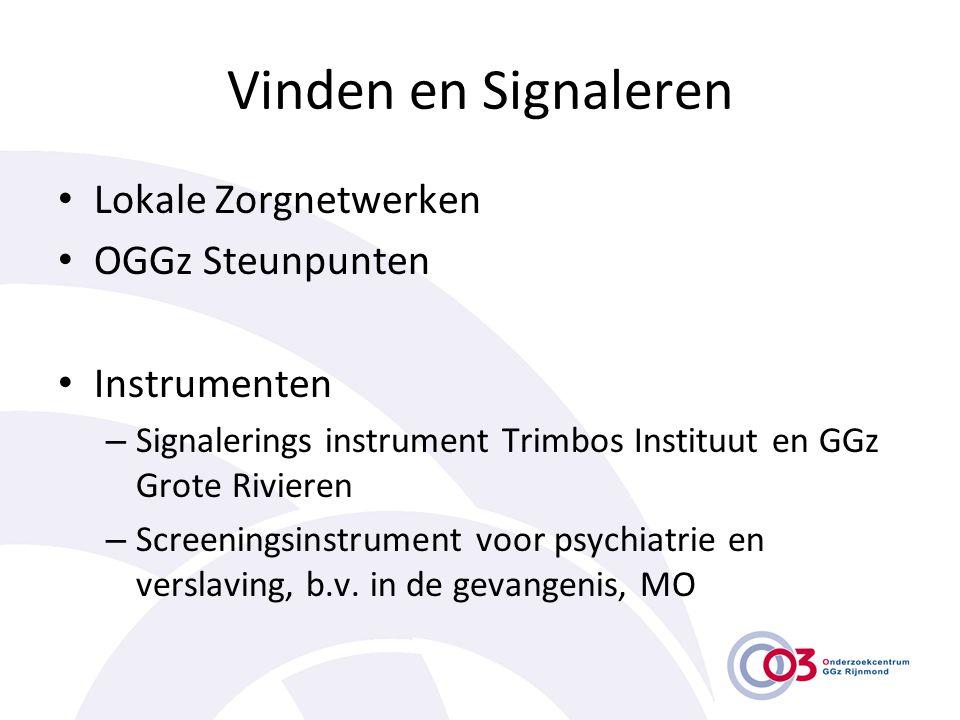 Vinden en Signaleren Lokale Zorgnetwerken OGGz Steunpunten