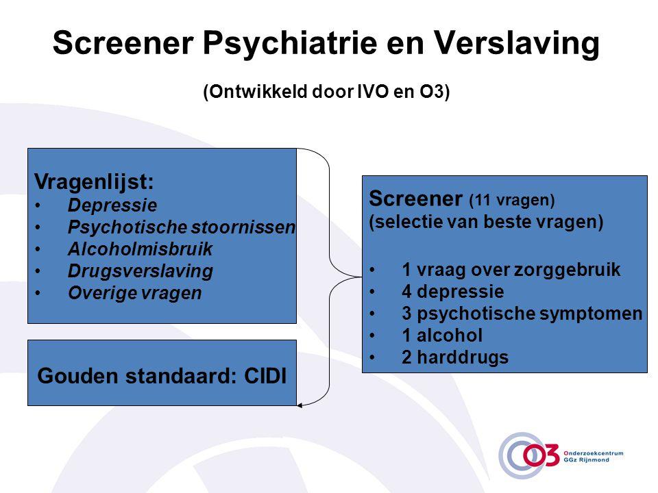 Screener Psychiatrie en Verslaving (Ontwikkeld door IVO en O3)