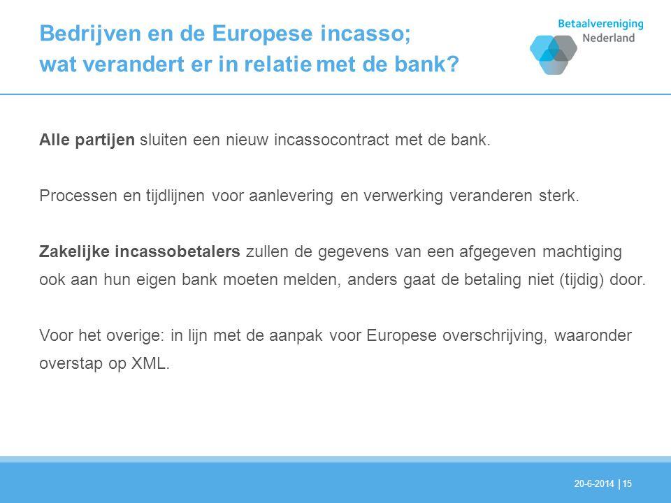 Bedrijven en de Europese incasso; wat verandert er in relatie met de bank
