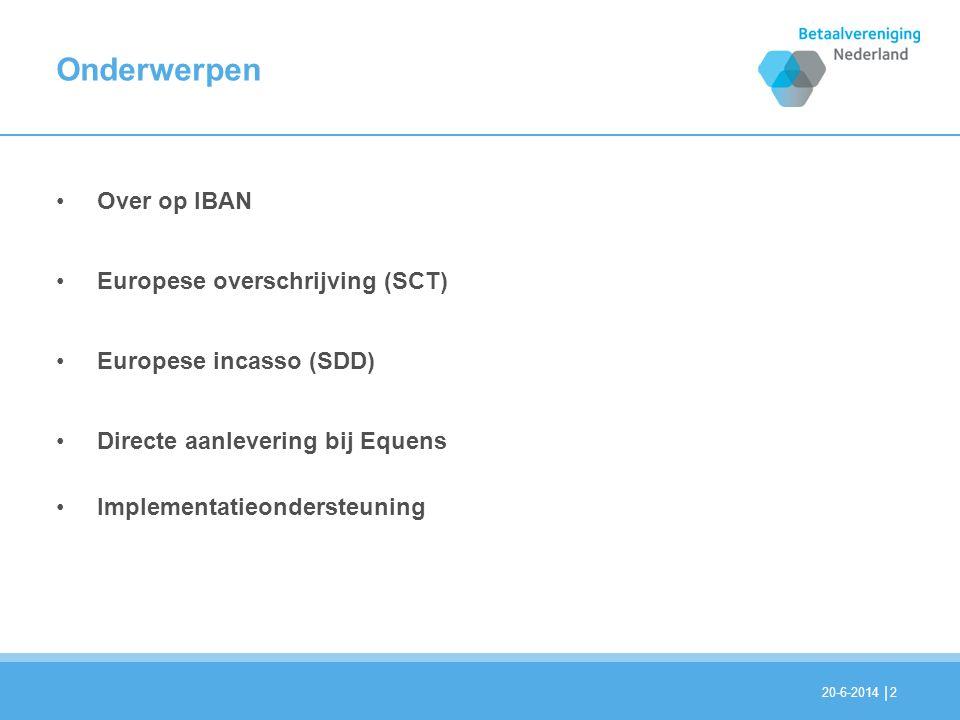 Onderwerpen Over op IBAN Europese overschrijving (SCT)